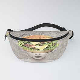 Burger Vision Collage Fanny Pack
