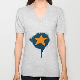 Lazy Stars (Blueberry/Tangerine) Unisex V-Neck