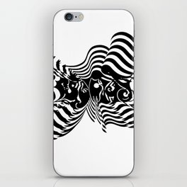 Psycho wave clear iPhone Skin