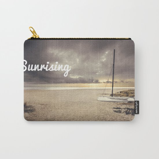 Dramatic sunrise on the beach Carry-All Pouch