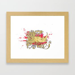 Rhino morph Framed Art Print