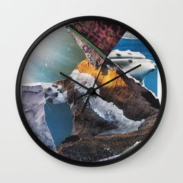 Mountain water Wall Clock