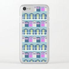 Beach Huts Clear iPhone Case