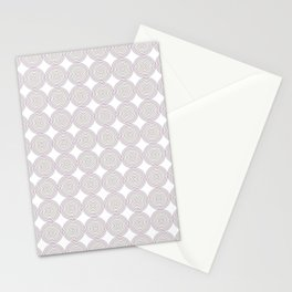 Colorful circle grid Stationery Cards