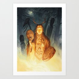 Dayaana ~ A Compendium Of Witches Art Print