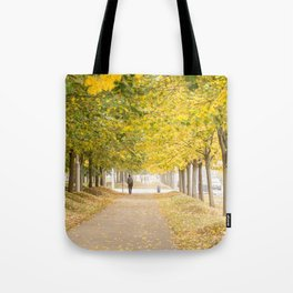 Walking under the trees in Autumn I Tote Bag