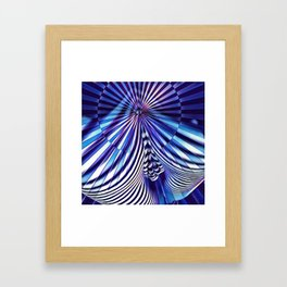 7694s-KMA Abstract Blue Nude Intimate Sexy Hot Framed Art Print