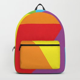 rainbow colour wheel Backpack