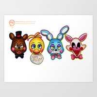 fnaf Art Prints featuring The news - FNAF 2 by Maria Daregin