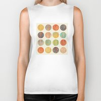 celestial Biker Tanks featuring CELESTIAL BODIES by Daisy Beatrice