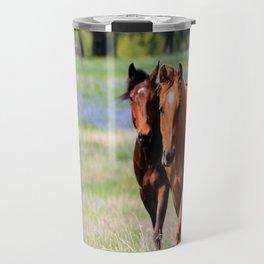 Horses & Bluebonnets II Travel Mug