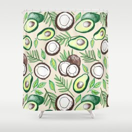 Coconuts & Avocados Shower Curtain