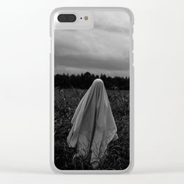 Ghost in the Field - Tall Clear iPhone Case