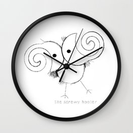 The Screwy Hooter Wall Clock