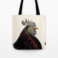 rooster Tote Bags featuring Rooster by Urška Hočevar
