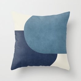 Halfmoon Colorblock - Blue Throw Pillow