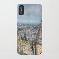 edinburgh iPhone & iPod Cases featuring Edinburgh Castle by Christine Workman