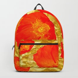 GOLD FOIL SETTING FOR ORANGE POPPIES Backpack