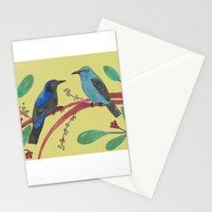 Asian Fairy-Bluebird Couple Stationery Cards
