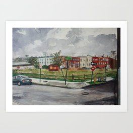 27th & Sisson Art Print