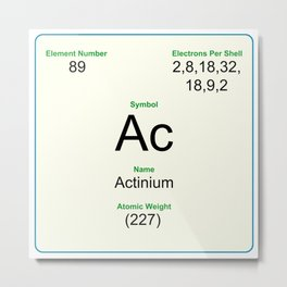 89 Actinium Metal Print