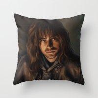 kili Throw Pillows featuring Kili by Svenja Gosen