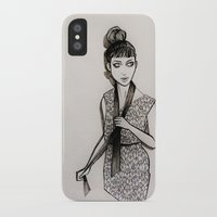 grimes iPhone & iPod Cases featuring Grimes by Justine Lecouffe