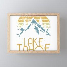 Vintage Lake Tahoe California Nevada Retro Hoodie Framed Mini Art Print