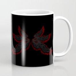 Archangel Lucifer with Feather Dark Coffee Mug