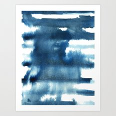 Indigo Stripes Art Print