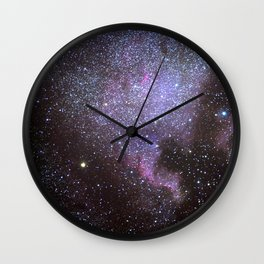 North American Nebulae. The Milky way. North America Nebula Wall Clock