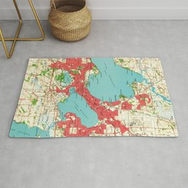 Vintage Map of Madison Wisconsin (1959) Rug