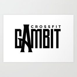 CFGambit Logo Text Art Print