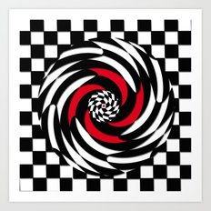 Checkered Meditation Art Print