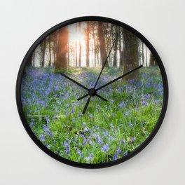 Bluebell Sunrise Wall Clock
