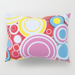 Pop Art Colour Circles Pillow Sham