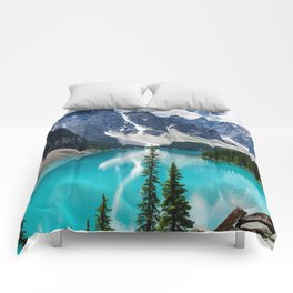 Lake Moraine Banff Comforters