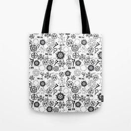Supernatural Symbols Tote Bag