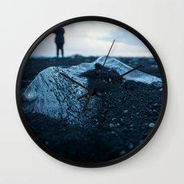 Mini Mountain-Diamond Beach-Iceland Wall Clock