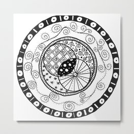 Circle Doodle Metal Print