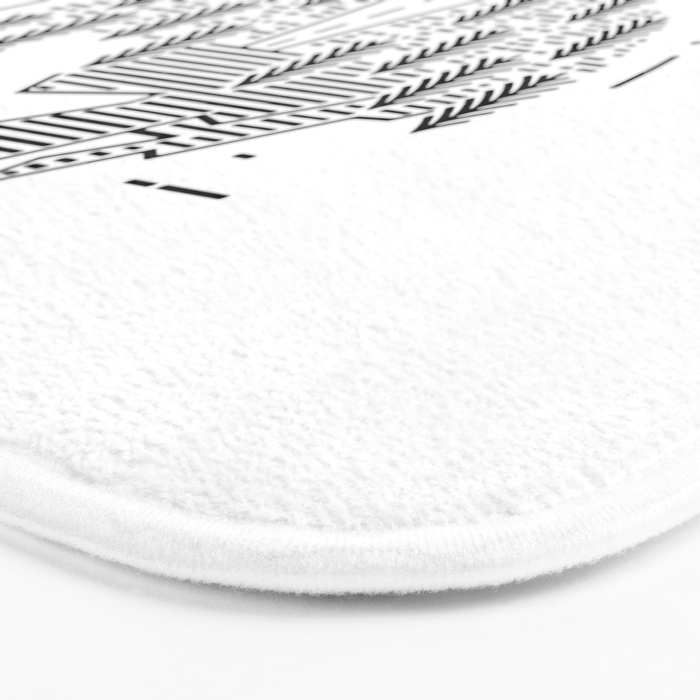 The mountains are calling and I must go- Nordic Bath Mat