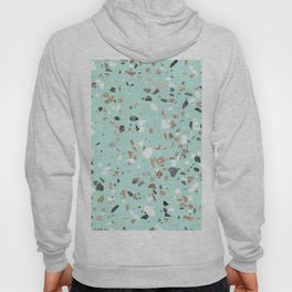Glitter and Grit Marble Mint Green Hoody