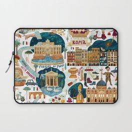 Rome map Laptop Sleeve