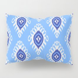 IKAT pattern 02, blue Pillow Sham
