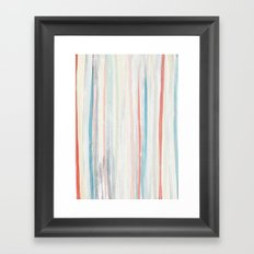 Painterly Stripes Framed Art Print
