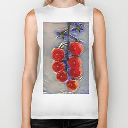 Cherry tomatoes on a branch Biker Tank
