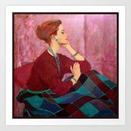 Carol Gunn Portrait Art Print