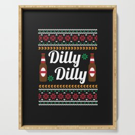 Dilly Dilly Beer Ugly Shirt Serving Tray