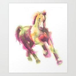 Cantering Horse Art Print