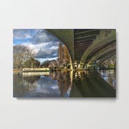 Beneath Reading Bridge Metal Print
